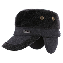 HT722 New Fashion Imitate Fur Russian Hat Warm Winter Ear Flap Hats for Men Casual Flat Top Cadet Army Military Caps Hats Gorras