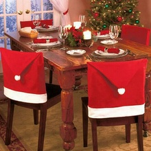 Buy Hot Sale 4 pcs/lot Fashion Santa Clause Red Hat Chair Back Cover Christmas Dinner Table Party Decor Christmas for $6.54 in AliExpress store