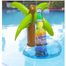 Hot Summer Beach Float 6Pcs/Set Inflatable Toys Palm Tree Beer Drink Cup Holder Mini Tumbler Holder Swimming Party Outdoor Toy
