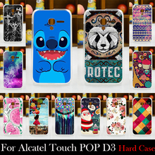 For Alcatel One Touch POP D3 CASE OT4035A 4035X Case Hard Plastic Mobile Phone Cover Case DIY Color Paitn Cellphone Bag Shell
