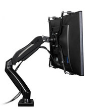 "NB 10-27"" 360 rotate no hole screen 6.5kg air press gas strut full motion lcd tv table mount monitor desk support screen bracket(China)"