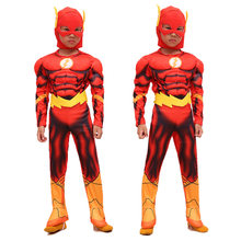 The Flash Muscle Kids Comic Fancy Dress Fantasia Halloween Costumes  Disfraces for Child Boy s Cosplay Costumes 23013c1350dc