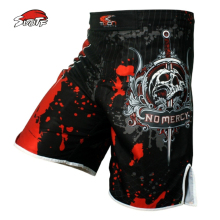 SUOTF Men's skeleton skull cool printing head wrestling pants muay thai boxing shorts  boxing shorts cheap mma shorts muay thai