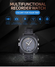 Sport outdoor camera smart watch with mobile phone connect app cctv ip camera watch for recording good viewing(China)