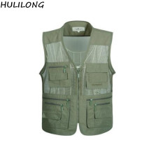 HULILONG Free Shipping New Mesh Vests  Men For Shooting Men Multi-pocket Photographer Vest Reporter Director Vest