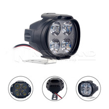 High Power 12W Super Bright Motorcycle Led Light Fog Spot White Headlight Working Light 12V