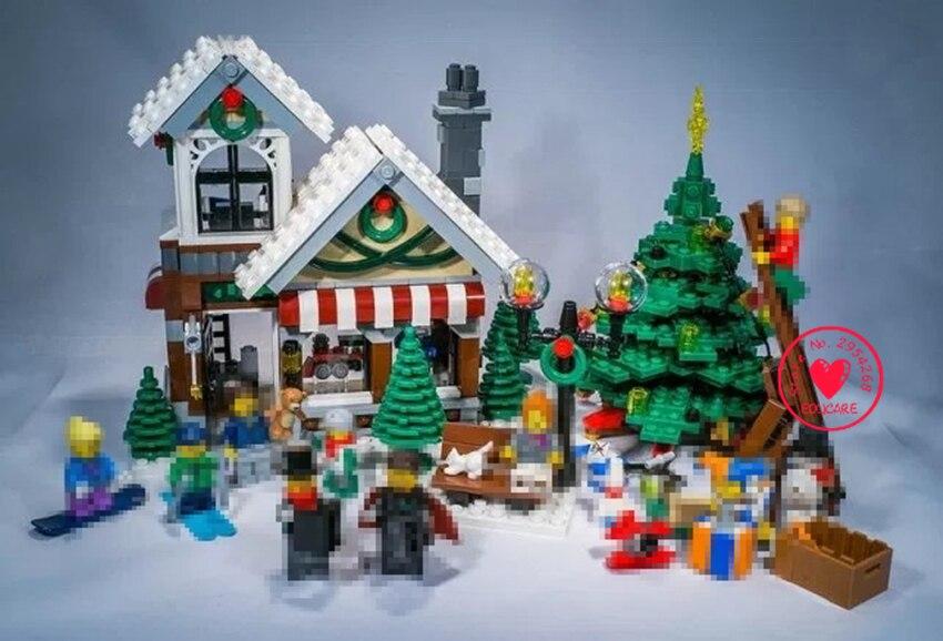 2018 New 39015 Cinderellas Christmas hut Blocks diy Bricks Toy creator friends 10249 xmas compatible legoes gift set kid<br>