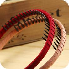 OH0223 new 2014 models toothed hair Kaka kids headdress jewelry cloth fine hair hoop headband hair accessories Korea TOP