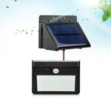 Novelty Lights Outdoor LED Solar Lamps Separable Solar Light 28 LED 3 Modes PIR Motion Sensor Wall Lamp For Yard Fence Garden(China)