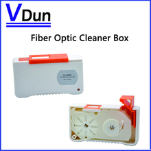 500+ times Fiber Optic Cleaner Box  Connector Cleaner  VD-CB1  for SC/FC/MU/LC/ST/MPO Connector