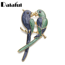 2017 New Design Double Birds Brooch Pin Enamel Classic Magpie Clothes Accessories Brooches For Women Z018