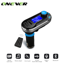 3 Color Car Kit MP3 Mucsic Player Wireless FM Transmitter Handsfree Radio Modulator SD LCD Dual USB Charger for iPhone Samsung(China)