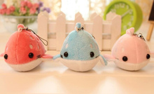 Super Kawaii CUTE Dots Whale 10CM Plush Stuffed Keychain & Phone Charm Strap DOLL TOY BAG Pendant Wedding Bouquet TOY Gift DOLL