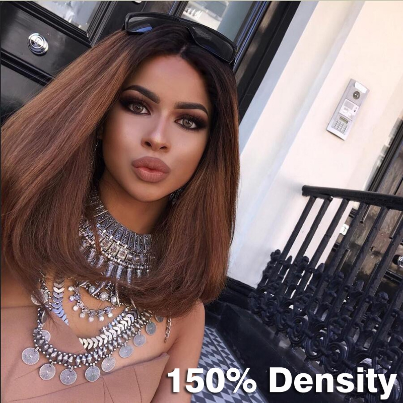 7A Grade Malaysian virgin hair BOB Front lace wigs Ombre Color full lace human hair wigs T1b/30# Glueless Wig for Black Women<br><br>Aliexpress
