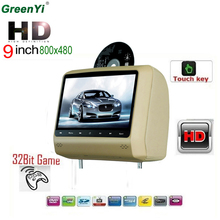 "Car Headrest DVD Player 9"" Touch Key USB Game IR Headset For Renault Opel Nissan(China)"