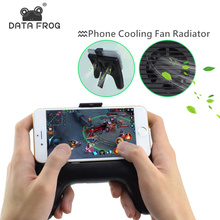 Data Frog 2017 New Phone Cooling Fan Handle Game Pad Radiator Holder Stand Heatsink with Mini Power Bank for iphone samsung cell