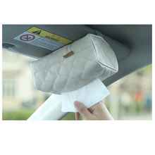 Buy Tissue boxes Multi-purpose Sun visor Type Microfiber Leather Tissue pumping tissue paper Car Visor Organizer Stowing Accessories for $6.00 in AliExpress store