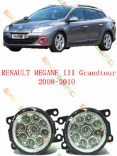 For RENAULT MEGANE 3/III Grandtour  2008-2010  car styling led lamps  Refit fog lights    12V  2 PCS  White  Yellow