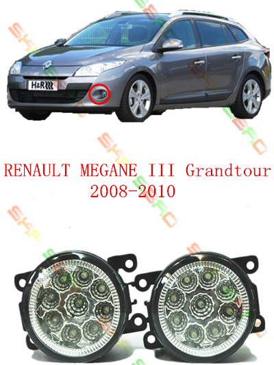For RENAULT MEGANE 3/III Grandtour  2008-2010  car styling led lamps  Refit fog lights    12V  2 PCS  White  Yellow<br><br>Aliexpress