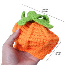 baby hat Pumpkin Crochet Halloween Hat for infant Girls Boys Beanie Photo Props Costume toddler handmade orange hat