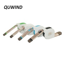 QUWIND Practical Stretchable Micro USB Charge Data Sync Micro USB Flat Cable with 8Pin Connector for iphone ipad Andriod(China)