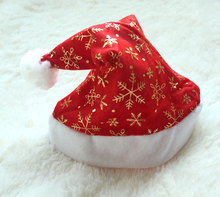 Free shipping!Europe And The United States Gold Christmas Hat High-grade Party Hat Of Good Quality