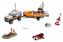 Lepin 02067 City Coast Guard Trailer Rescue boats Response Unit Compatible with 60165 Toy