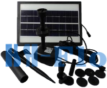3.6W 250L/H Pond Fountain Solar Fountain Solar Water Pump+ Battery + LED Light for Garden Decoration