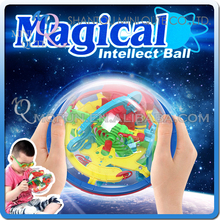MINI QUTE 2017 Newest 100 Steps 3D Maze Ball magical Intellect Ball Puzzle IQ Balance game Toy Children's gift Educational Toys