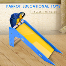 Parrot's Slide Training Bird Toys Parrot Educational Toys for small and medium size parrots random color(China)