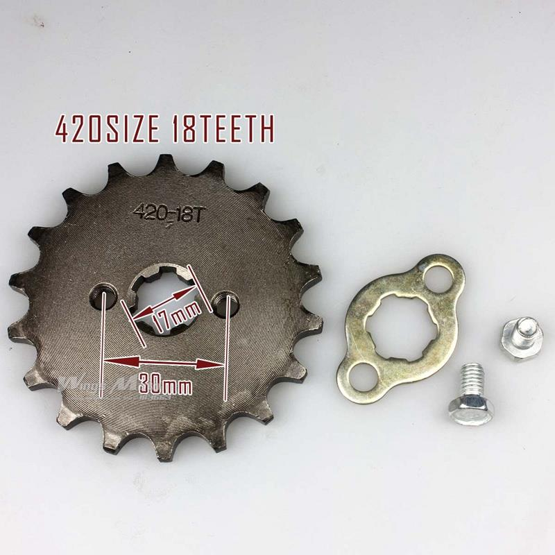 420-18T 17mm Front Sprocket 420 Size 18 Teeth for Motorcycle ATV Dirtbike(China (Mainland))