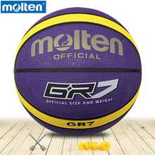 original molten basketball ball GR7 High Quality Genuine Molten rubber Material Official Size7 size6 Free With Net Bag+ Needle(China)