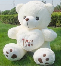 Kawaii Teddy Bear Kids Plush Toys High-quality White I Love You Bear Stuffed Dolls for Women Valentine's Day Gift 50cm