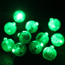 50Pcs/Lot Green Mini Balloon Lamp LED Round Light For Paper Lantern Wedding Party Floral Decoration Christmas Halloween Suppies
