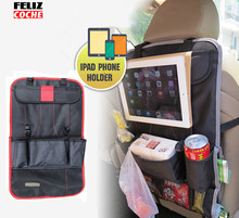 6 Colors Car Rear Seat Back Organizer Pad Phone Holder Storage Bag Hanger Net Truck Mesh Travel Pocket A3203(China)
