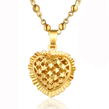 Wholesale Gold Color Heart Pendant Necklace for Women Female Gift Cute Style Woman Necklaces Jewellery Kolye collier femme(China)