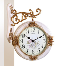 Meijswxj Large Wall Clock Double-Sided Wall Clock Saat Reloj Digital Clocks Relogio de parede Duvar Saati Horloge Murale Decor(China)