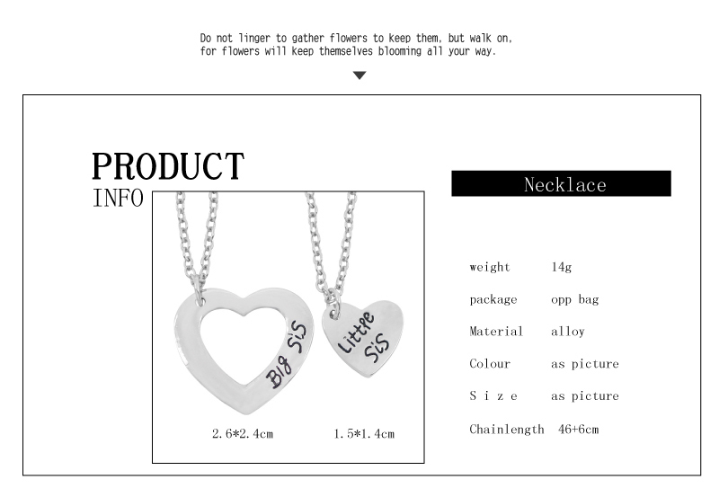 Complementary Heart-Shaped Family Necklaces For 2
