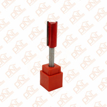 (Dia.) 1/2 Inch Double Flute Straight Bit Shank 1/4 Inch Silver & Red Carbide Woodworking Straight Router Bit(China)