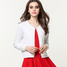 Hot Sale 2016 Brand New Fashion Women's Small Cardigan Short Jacket Casual Elegant Outwear Cotton Long Sleeves Small Coat