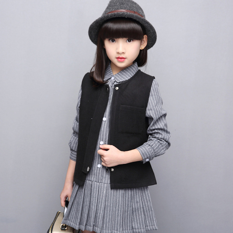 Spring Kids Girls Outfit Sets 2017 Cute Princess Plaid Print Style Coat Skirt Children Clothing Set Wear 5-14 Ages<br><br>Aliexpress