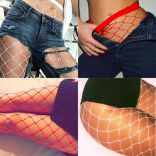 Buy club party women stocking hosiery tights Party Hollow sexy pantyhose female Mesh red white slim fishnet stockings