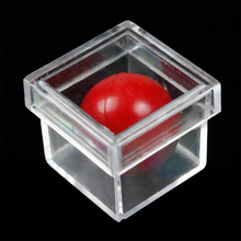 Funny Children Stage Magic Toy Ball Through Clear Box Illusion ConJuring Prop Magic Tricks Sell Fun For Magicians Magic Toys