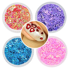 Nail Art Glitter Paillette 1 Box Mixed Color 12 Designs Mini Heart Hot Fashion Shining Manicure Glitter Sequins Nail Decoration(China)