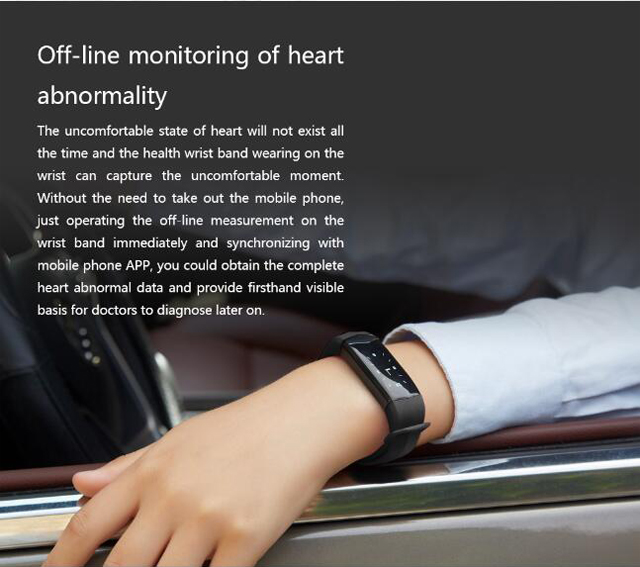 CD01 Graphene ECG HeartRate Blood Pressure Smart Bracelet for iphone Android Sleep Pedometer Activity Tracker Call SMS Reminder 7