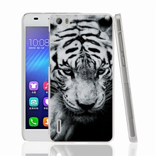 01444 White Siberian Tiger cell phone Cover Case for huawei honor 3C 4A 4X 4C 5X 6 7 8 mate V8 Y6