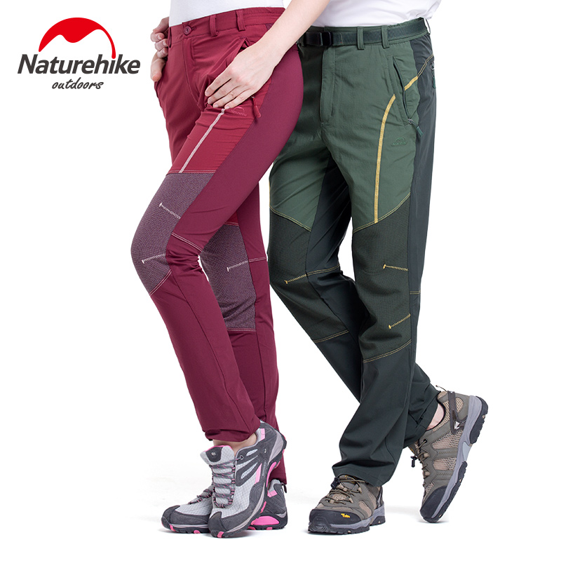 Naturehike Outdoor couples quick dry hiking pants sports Slim men women camping breathable pants stretch Trousers<br>