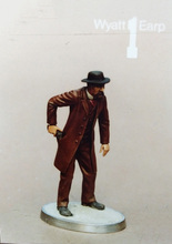Unpainted Kit 1/35 wyatt earp with gun include  base  figure Historical WWII Figure Resin  Kit Free Shipping