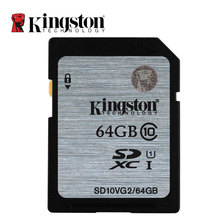 Original Kingston Real Capacity Class 10 SD Card 16GB 32GB 64GB 128GB Flash Memory Cards Digital SD Memory Card