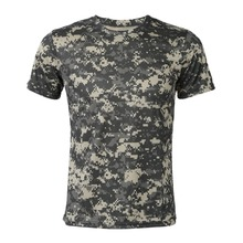 New Camouflage T-shirt Men Breathable Army Tactical Combat T Shirt Military Dry Camo Camp Tees-ACU Green(China)